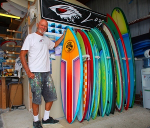 if you never had the pleasure of going into a surf shop in the 70's this is what it  looked life,all boards hand shapped,no computor assist.
